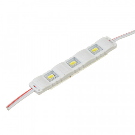 Купить Модуль МТК 12V белый холодный 3led smd5730 1Вт IP65