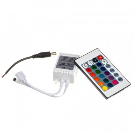 Купить Контроллер RGB 12А 144 Вт (IR 24 кнопки)
