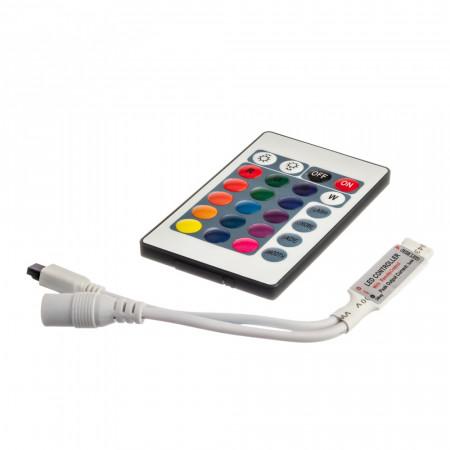 Купить Контроллер RGB мини 6А 72 Вт (IR 24 кнопки)
