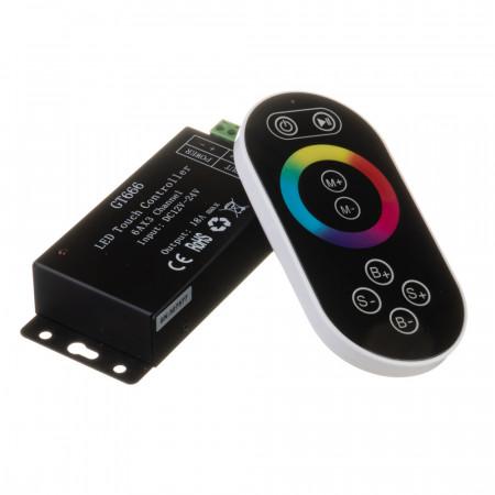 Купить Контроллер черный RGB 18А 216 Вт, (8 кнопок)