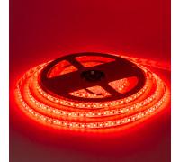 Led лента 12В красная smd2835 120LED/m IP65, 1м