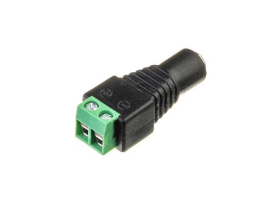 """Led коннектор mini jack 5,5 mm (""""мама"""")"""
