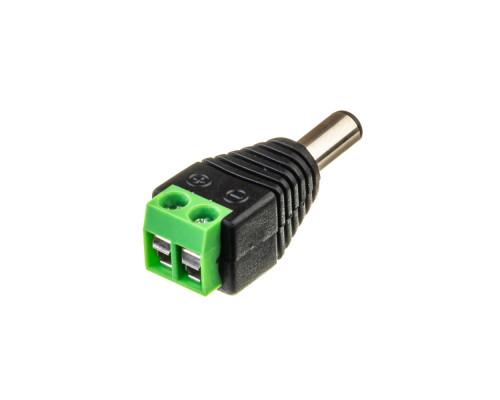 """Led коннектор mini jack 5,5 mm (""""папа"""")"""