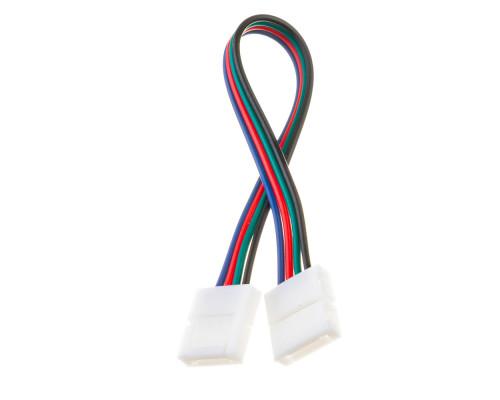 Led коннектор RGB 10 mm (провод+2 зажима)