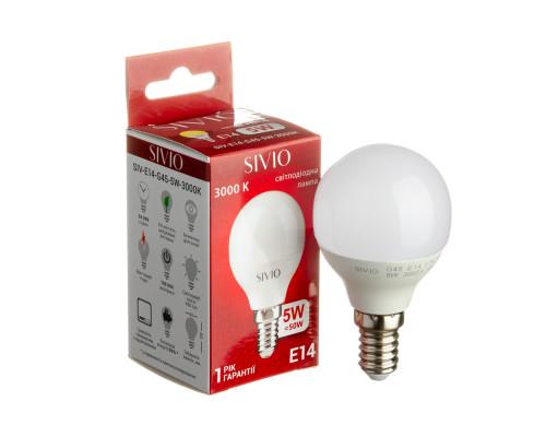 Led лампа Sivio 5Вт G45 теплая белая E14 3000K