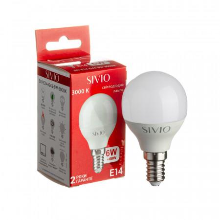 Купить Led лампа Sivio 6Вт G45 теплая белая E14 3000K