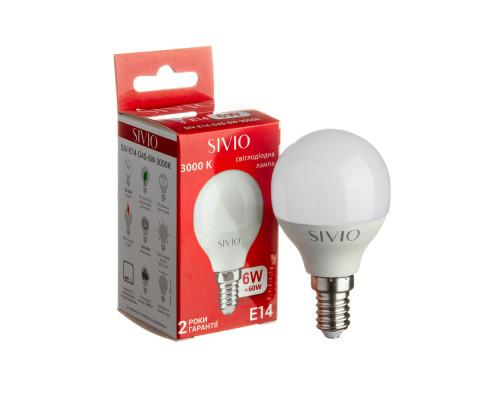 Led лампа Sivio 6Вт G45 теплая белая E14 3000K