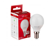 Led лампа Sivio 6Вт G45 нейтральная белая E14 4100K