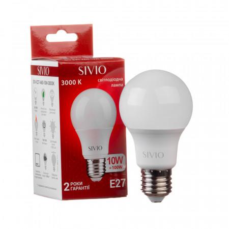 Купить Led лампа Sivio 10Вт А60 теплая белая E27 3000K