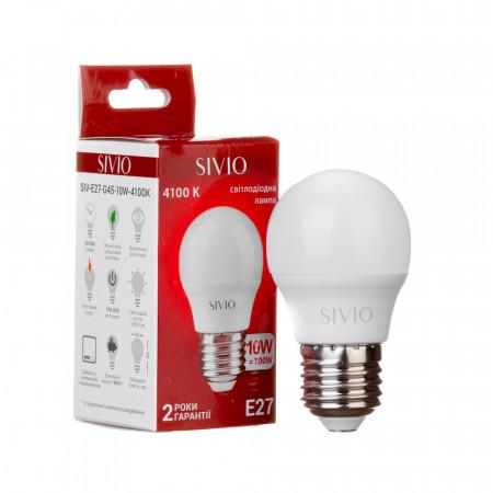 Купить Led лампа Sivio 10Вт G45 нейтральная белая E27 4100K