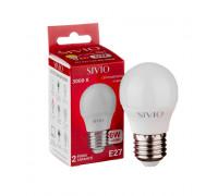Led лампа Sivio 6Вт G45 теплая белая E27 3000K