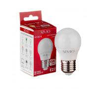Led лампа Sivio 6Вт G45 нейтральная белая E27 4100K