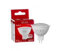 Led лампа Sivio 5Вт MR16 теплая белая GU5.3 3000K