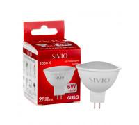 Led лампа Sivio 6Вт MR16 теплая белая GU5.3 3000K