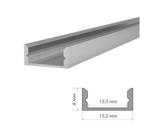 Профиль алюминиевый без покрытия накладной 2m ПФ-18