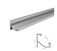 Профиль алюминиевый накладной угловой 2m ПФ-20