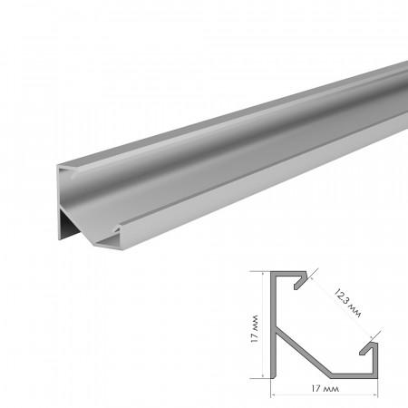 Купить Профиль алюминиевый накладной угловой 2m ПФ-20
