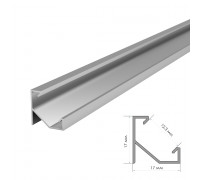 Профиль алюминиевый без покрытия накладной 1m ПФ-20