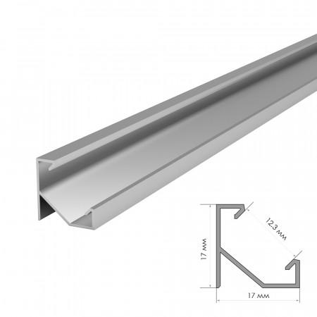 Купить Профиль алюминиевый без покрытия накладной 1m ПФ-20