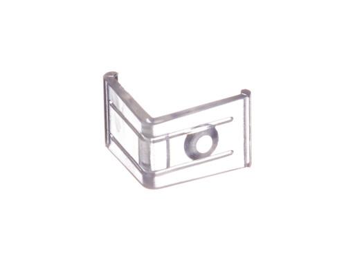 Крепеж угловой пластиковый Пф-8 для алюминиевого профиля