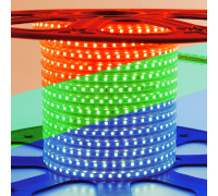 Led лента 220В rgb smd5050 10W/m 60LED/m IP65, 1м