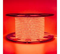 Led лента 220В красная AVT smd2835 120LED/m 4W IP65 , 1м