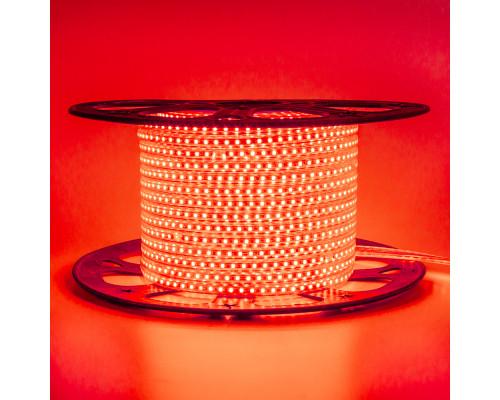 Led лента 220В красная AVT smd2835 120LED/m 4W IP65
