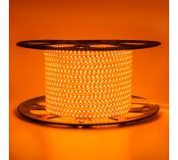 Led лента 220В оранжевая AVT smd2835 120LED/m 4W IP65 , 1м
