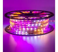 Мигающая led лента Multi-Color 220В smd2835 48LED/m 6W IP65 , 1м