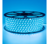 Led лента 220В синяя smd2835 120LED/m 12W IP65 , 1м