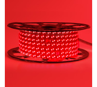 Led лента 220В красная smd2835 120LED/m 12W IP65 , 1м