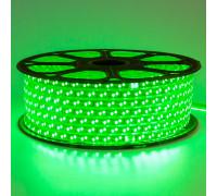 Led лента 220В зеленая smd2835 120LED/m 12W IP65 , 1м