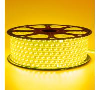 Led лента 220В желтая smd2835 120LED/m 12W IP65 , 1м