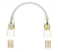 Соединитель для Led неона 220В AVT smd5050 (2 разъема+2 шт. 4pin) с проводом