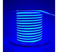 Led неон 220В синий AVT smd2835 120LED/m 7W IP65 , 1м