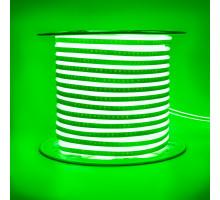 Led неон 220В зеленый AVT smd2835 120LED/m 7W IP65 , 1м
