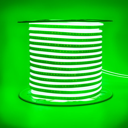 Купить Led неон 220В зеленый AVT smd2835 120LED/m 7W IP65 , 1м