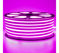 Led неон 220В розовый smd2835 120LED/m 12W IP65 , 1м
