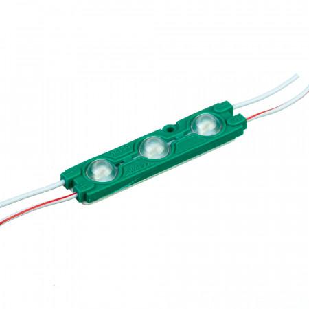Купить Модуль светодиодный зеленый 12в smd5730 3LED 1.5Вт герметичный