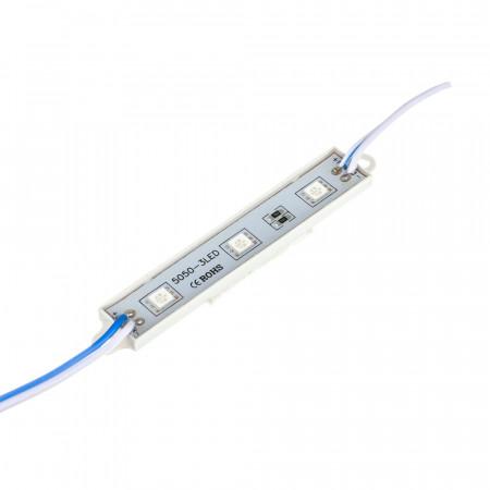 Купить Модуль МТК 12V синий 3led smd5050 0.72Вт IP65