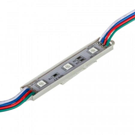 Купить Модуль МТК 12V RGB 3led smd5050 0.72Вт IP65