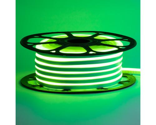 Led неон 220В зеленый AVT-1 smd2835 120LED/m 7W IP65 , 1м