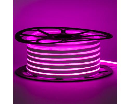 Led неон 220В розовый AVT-1 smd2835 120LED/m 7W IP65 , 1м