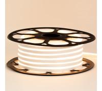 Led неон 12В белый теплый 6х12 AVT smd2835 120LED/m 6W IP65 силикон, 1м