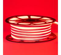 Led неон 12В красный 6х12 AVT smd2835 120LED/m 6W IP65 силикон, 1м