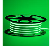 Led неон 12В зеленый 6х12 AVT smd2835 120LED/m 6W IP65 силикон, 1м