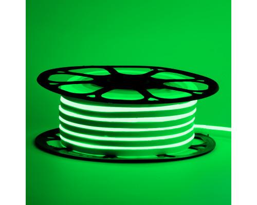 Led неон 12В зеленый 6х12 AVT smd2835 120LED/m 6W IP65 силикон