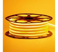 Led неон 12В желтый 6х12 AVT smd2835 120LED/m 6W IP65 силикон, 1м