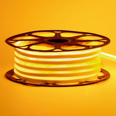 Купить Led неон 12В желтый 6х12 AVT smd2835 120LED/m 6W IP65 силикон, 1м