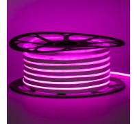 Led неон 12В розовый 6х12 AVT smd2835 120LED/m 6W IP65 силикон, 1м